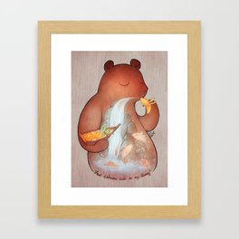 iFeel 'Salmons swim in my tummy' Framed Art Print