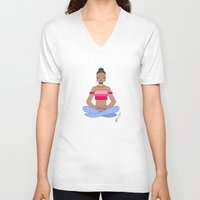 meditation V-neck T-shirts featuring Meditation by Kristen Bisson