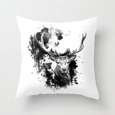 Once upon a Stag Throw Pillow