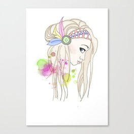 Blonde Indian Girl Canvas Print