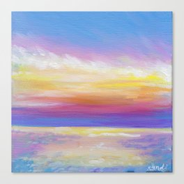 sunset in rodanthe Canvas Print