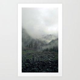 Elsay Lake Fog #2 Art Print