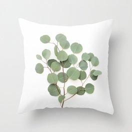 Eucalyptus Branch Throw Pillow