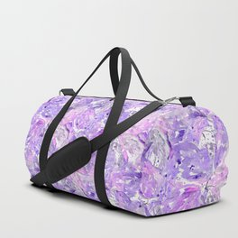 Lilac watercolor leaves Duffle Bag