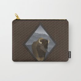 Bison Gray Mountains Carry-All Pouch