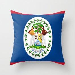 flag of belize-Belice, Belizean,Belize City,beliceno,Belmopan Throw Pillow