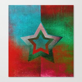 Suprematist Star Canvas Print
