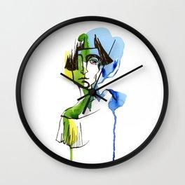 short hair Wall Clock