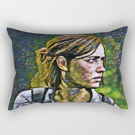 The Last of Us Ellie Artistic Illustration Infected Style Rectangular Pillow