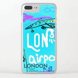 LON LONDON airports code Clear iPhone Case