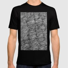 The river fell under us... MEDIUM Black Mens Fitted Tee