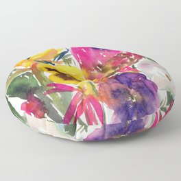 exotic flowers and more Floor Pillow