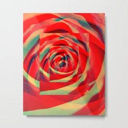 Into Rose Metal Print
