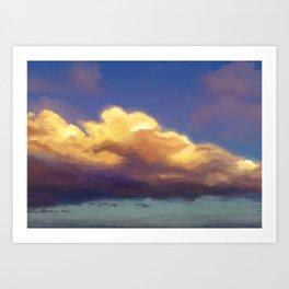 cloudy evening sky study 2020-02-23 Art Print