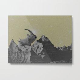 Rhino Mountain Metal Print