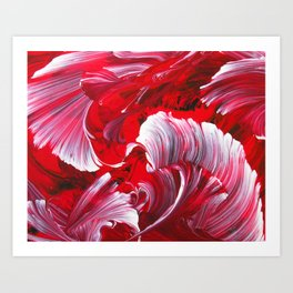 Crimson Swirl Art Print
