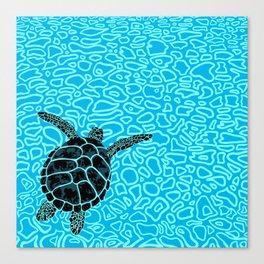 Sea Turtle by Black Dwarf Designs Canvas Print