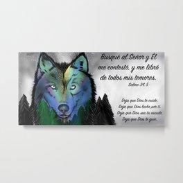 Lobo del cielo - Salmo 34, 5 Metal Print