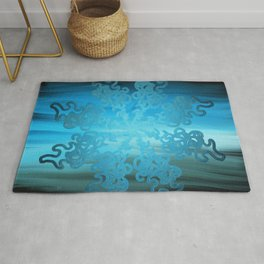 Ice Cold Abstract Rug