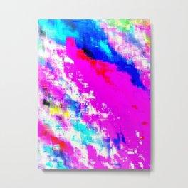 Glitchy Pinkness Metal Print