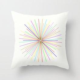 Strands Of Light - Defraction Pattern Throw Pillow