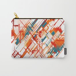 Abstract Red River Carry-All Pouch