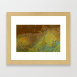 Cities of the microbes Framed Art Print