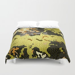 Abstract leaves mosaik Duvet Cover
