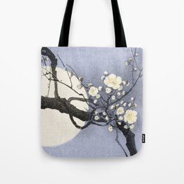 Full Moon and blossom Tote Bag