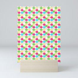 15 Hexagon Arrangement Mini Art Print