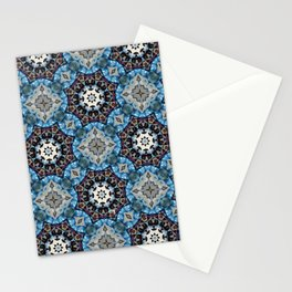K186 Fancy Blue Octagon Stationery Cards