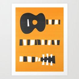 Retro Guitar Art Print