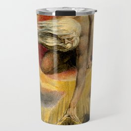 """William Blake """"Urizen depicted in Blake's watercoloured etching The Ancient of Days."""" Travel Mug"""