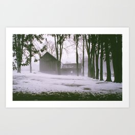 In the fog Art Print