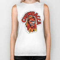 chewbacca Biker Tanks featuring Chewbacca by Popp Art