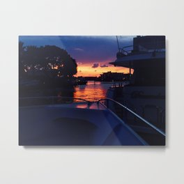 Sunset from the Yacht Metal Print