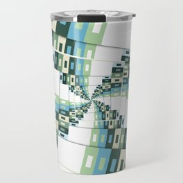 Retro Geometric Rotation Travel Mug