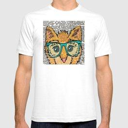 Orange Kitty Cat T-shirt