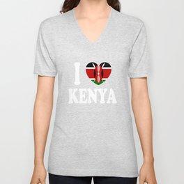 I Love Kenya Unisex V-Neck