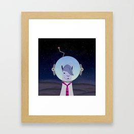 Unique Lama Astronaut Design Framed Art Print