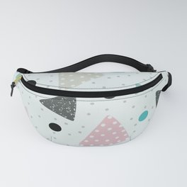 Floating Pizza Geometric Triangles Fanny Pack