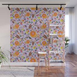 Cute Tropical Pattern Wall Mural