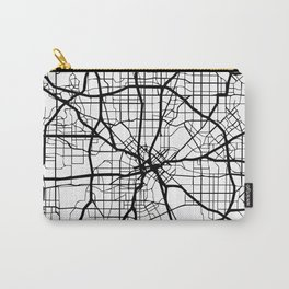 DALLAS TEXAS BLACK CITY STREET MAP ART Carry-All Pouch