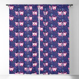 Decorative pattern design with cute pig Blackout Curtain