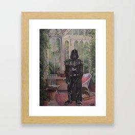 Darth Vader at home  Framed Art Print