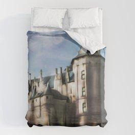 Chateau de saumur - france - castle - Loire - aquarelle  Duvet Cover