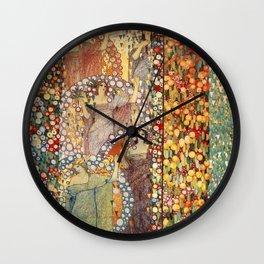 Classical Spring Floral Garden of Galileo Chini by Giorgio Kienerk Wall Clock