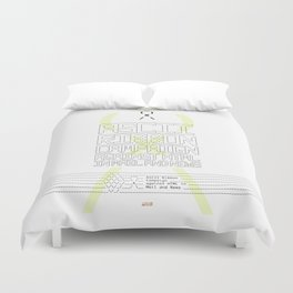 ASCII Ribbon Campaign against HTML in Mail and News – White Duvet Cover