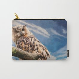 Painting Owl Carry-All Pouch