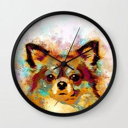 Dog 141 Chihuahua Wall Clock